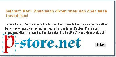Cara Verifikasi PayPal Menggunakan VCC